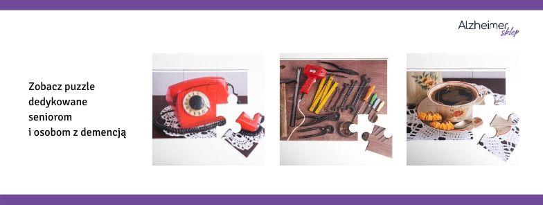 puzzle dla osób z demencją, chorobą Alzheimera, seniorów
