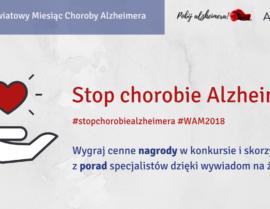 Stop chorobie Alzheimera - baner, zaproszenie na wydarzenia