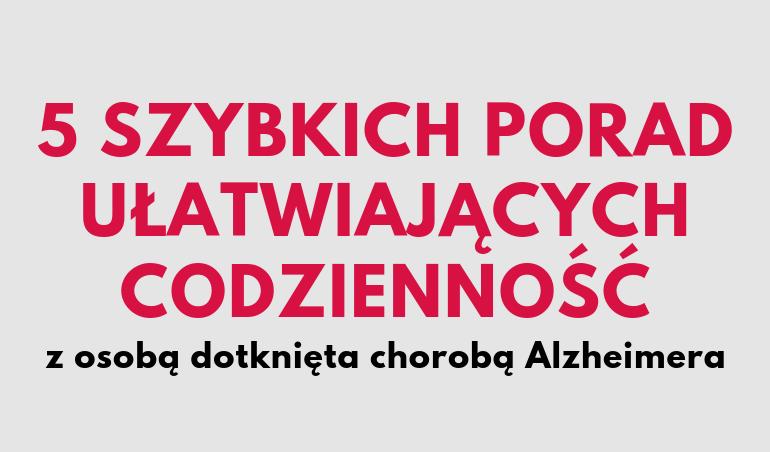 codzienność z chorym na alzheimera